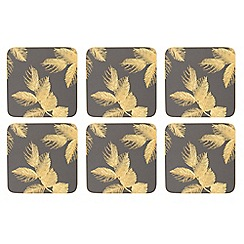 Sara Miller - Set of 6 grey 'Chelsea' coasters