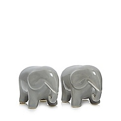 Home Collection - Grey elephant salt and pepper shakers