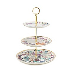 Debenhams - Multicoloured 3 tier garden print cake stand