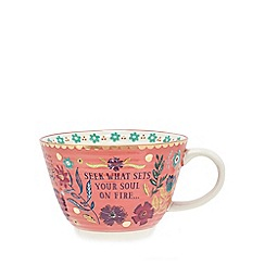 Debenhams - Multicoloured floral print mug