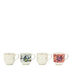 Home Collection - 4 pack multi-coloured printed stacking mugs
