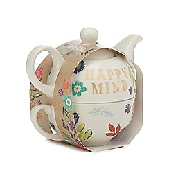 Home Collection - Ivory floral print tea for one teapot