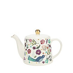 Home Collection - Multicoloured floral print teapot