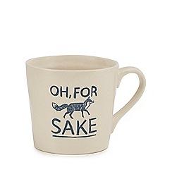 Home Collection - Ivory 'Oh, For Fox Sake' large mug