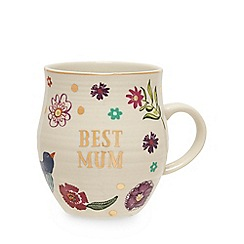 Debenhams - Multicoloured 'Best mum' mug