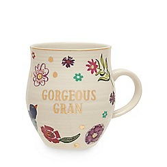 Debenhams - Multicoloured 'Gorgeous Gran' floral mug