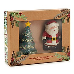 Home Collection - Santa and Christmas Tree salt and pepper shaker set