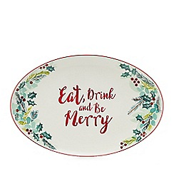Home Collection - Multicoloured 'Eat Drink and be Merry' large platter dish