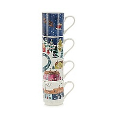 Home Collection - Multicoloured Christmas stacking mug
