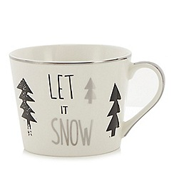 Home Collection - White tree print 'Let it snow' mug