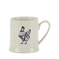 Debenhams - Blue 'Country Kitchen' chicken mug