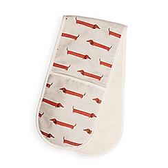 Fenella Smith - Multi-coloured Dachshund print cotton double oven glove