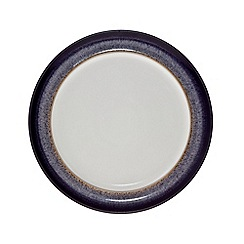 Denby - Glazed 'Heather' rimmed medium plate