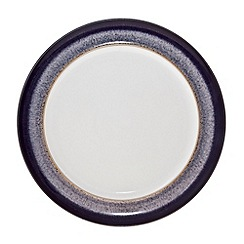 Denby - Glazed 'Heather' rimmed dinner plate
