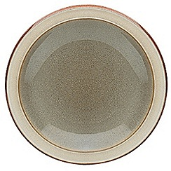 Denby - Green glazed 'Fire' tea plate