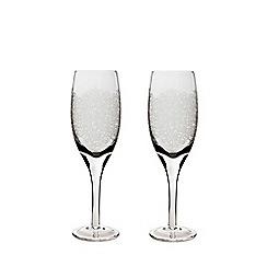 Denby - Set of 2 'Filigree' white wine glasses