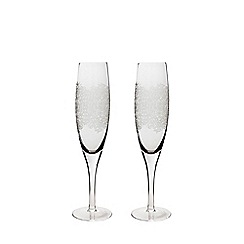 Denby - Set of 2 'Filigree' champagne flutes