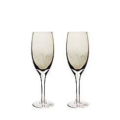 Denby - Set of 2 'Lucille Gold' white wine glasses