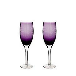 Denby - Set of 2 'Cosmic' white wine glasses
