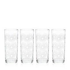 Home Collection Basics - Set of four printed hiball glasses