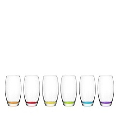 Istyle - Set of 6 'Empire' bottom hi-ball glasses