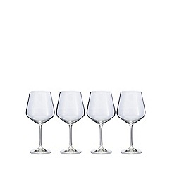 J by Jasper Conran - Set of four crystal 'Calvello' burgundy wine glasses