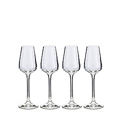 J by Jasper Conran - Set of four crystal 'Calvello' sherry glasses