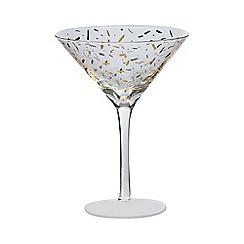 Home Collection - Set of 2  gold confetti martini glasses