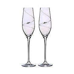 Star by Julien Macdonald - Set of two swarovski crystal lustre champagne flutes