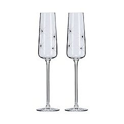 Star by Julien Macdonald - Set of 2 Swarovski crystal champagne flutes