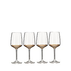 Home Collection - Set of four gold base wine glasses