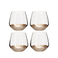 Home Collection - Set of four gold based glass tumblers