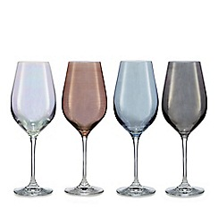 Star by Julien Macdonald - Set of four mixed lustre wine glasses
