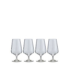 J by Jasper Conran - Set of 4 'Calvello' beer glasses