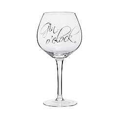 Star by Julien Macdonald - 'Gin o'clock' wine glass
