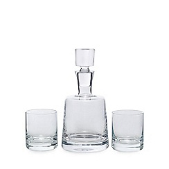 J by Jasper Conran - Whisky decanter and 2 tumbler set