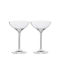 Star by Julien Macdonald - Set of 2 champagne saucers