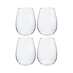 Home Collection - Set of 4 stemless wine glasses