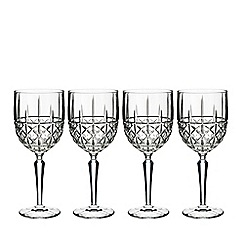 Royal Doulton - Set of 4 crystal 'Marquis Brady' white wine glasses