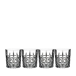 Marquis by Waterford - Set of 4 fine crystal 'Brady' double old fashioned tumblers