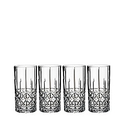 Marquis by Waterford - Set of 4 fine crystal 'Brady' hi-ball glasses