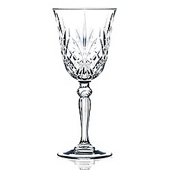 Royal Crystal Rock - Set of 6 crystal 'Melodia' wine glasses