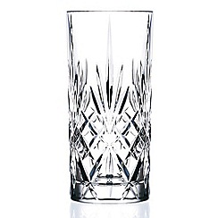 Royal Crystal Rock - Set of 6 crystal 'Melodia' hi-ball glasses