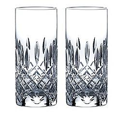 Royal Doulton - Set of 2 lead crystal 'Highclere' hi-ball glasses