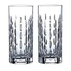 Royal Doulton - Set of 2 lead crystal 'Neptune' hi-ball glasses