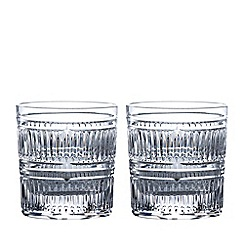 Royal Doulton - Set of 2 lead crystal 'Radial' tumblers