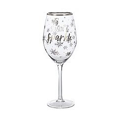 Home Collection - Silver 'Tis The Season' Wine Glass