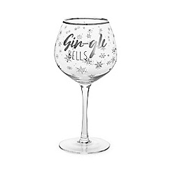 Home Collection - Silver 'Gin-gle Bells' Gin Glass