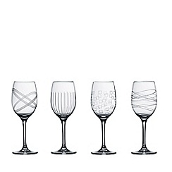 Royal Doulton - Set of 4 assorted 'Party' wine glasses