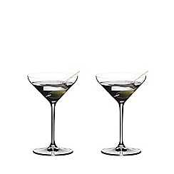 Riedel - Set of 2 crystal 'Extreme' Martini cocktail glasses